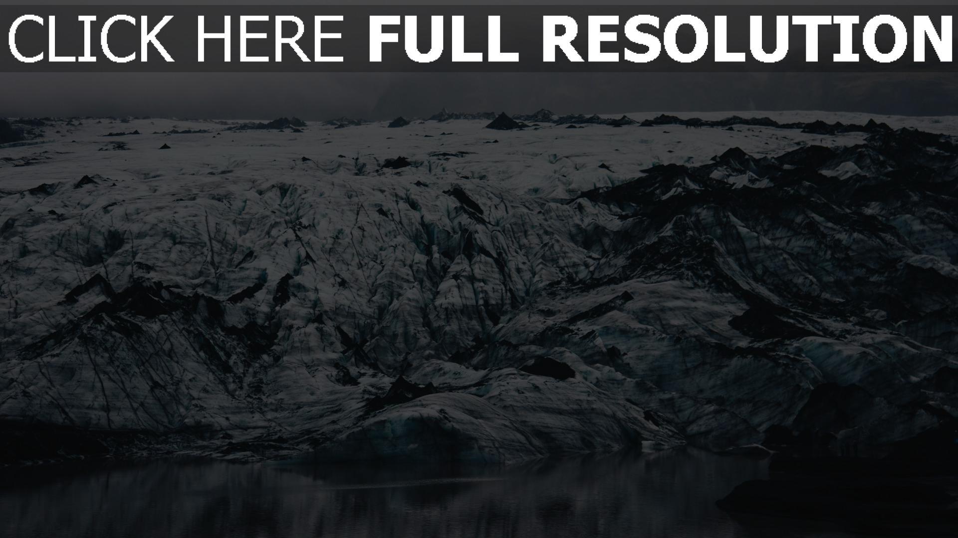 hd hintergrundbilder eis island ufer eisschollen 1920x1080