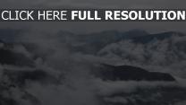 berge nebel wolken