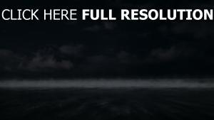 bewölkt nebel horizont himmel