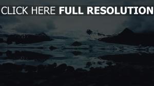 schnee steine eis