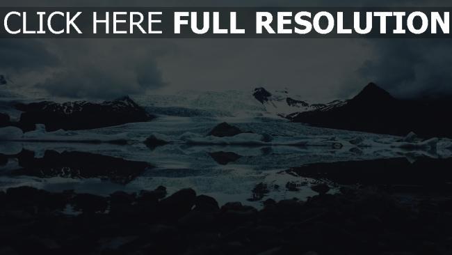 hd hintergrundbilder schnee steine eis