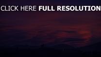 wolken lila berge himmel
