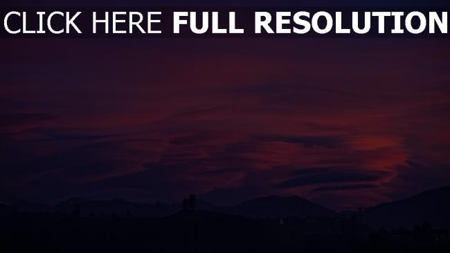 hd hintergrundbilder wolken lila berge himmel