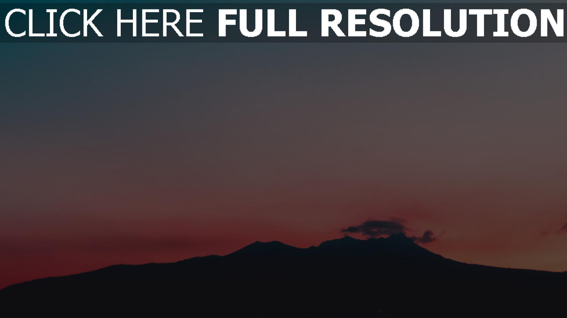 HD Hintergrundbilder sonnenuntergang berge himmel, desktop ...