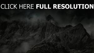 nebel gipfel berge