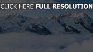 gipfel berge wolken schnee
