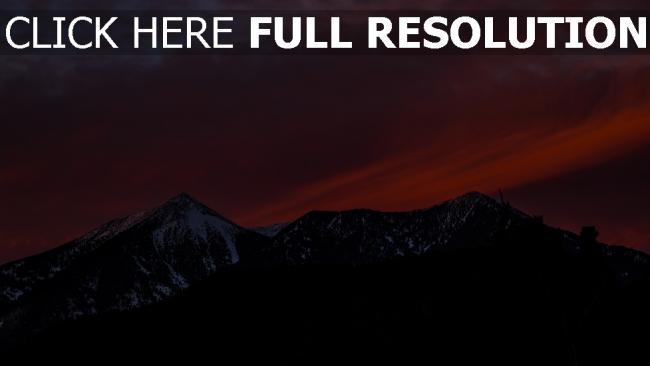hd hintergrundbilder sonnenuntergang berge schnee himmel
