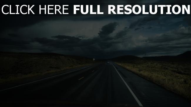hd hintergrundbilder weg verkehr auto wolken