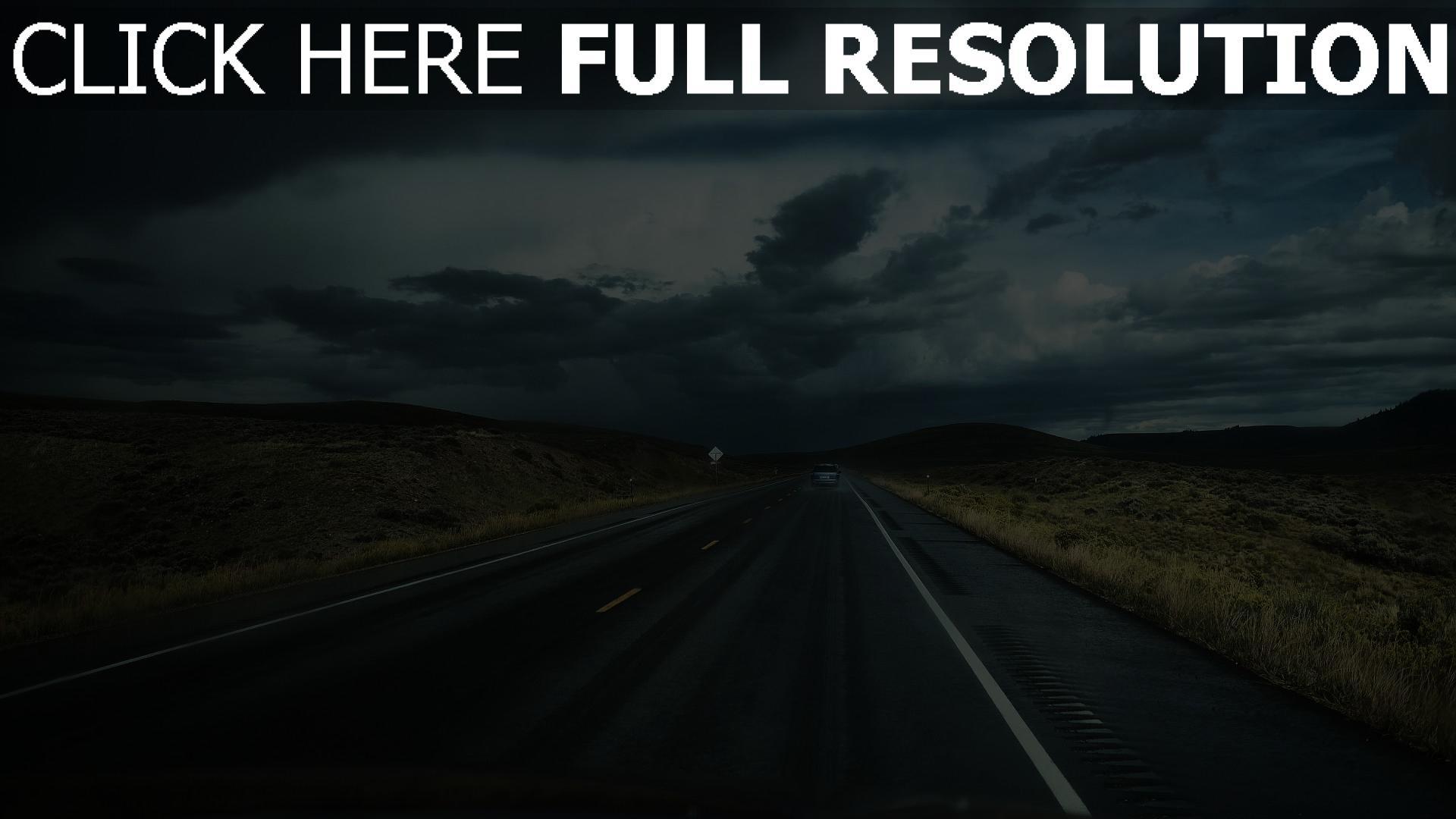 hd hintergrundbilder weg verkehr auto wolken 1920x1080