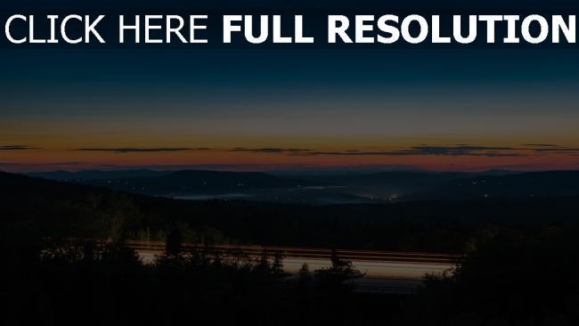 hd hintergrundbilder himmel sonnenuntergang nacht