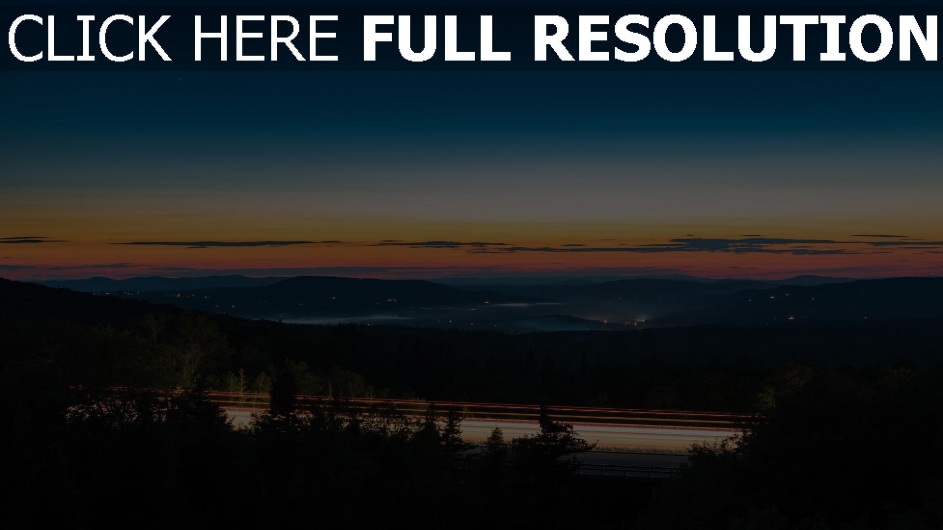 hd hintergrundbilder himmel sonnenuntergang nacht 1920x1080