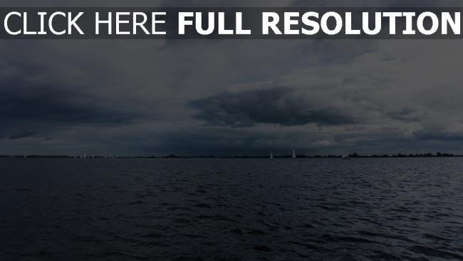 hd hintergrundbilder himmel horizont meer