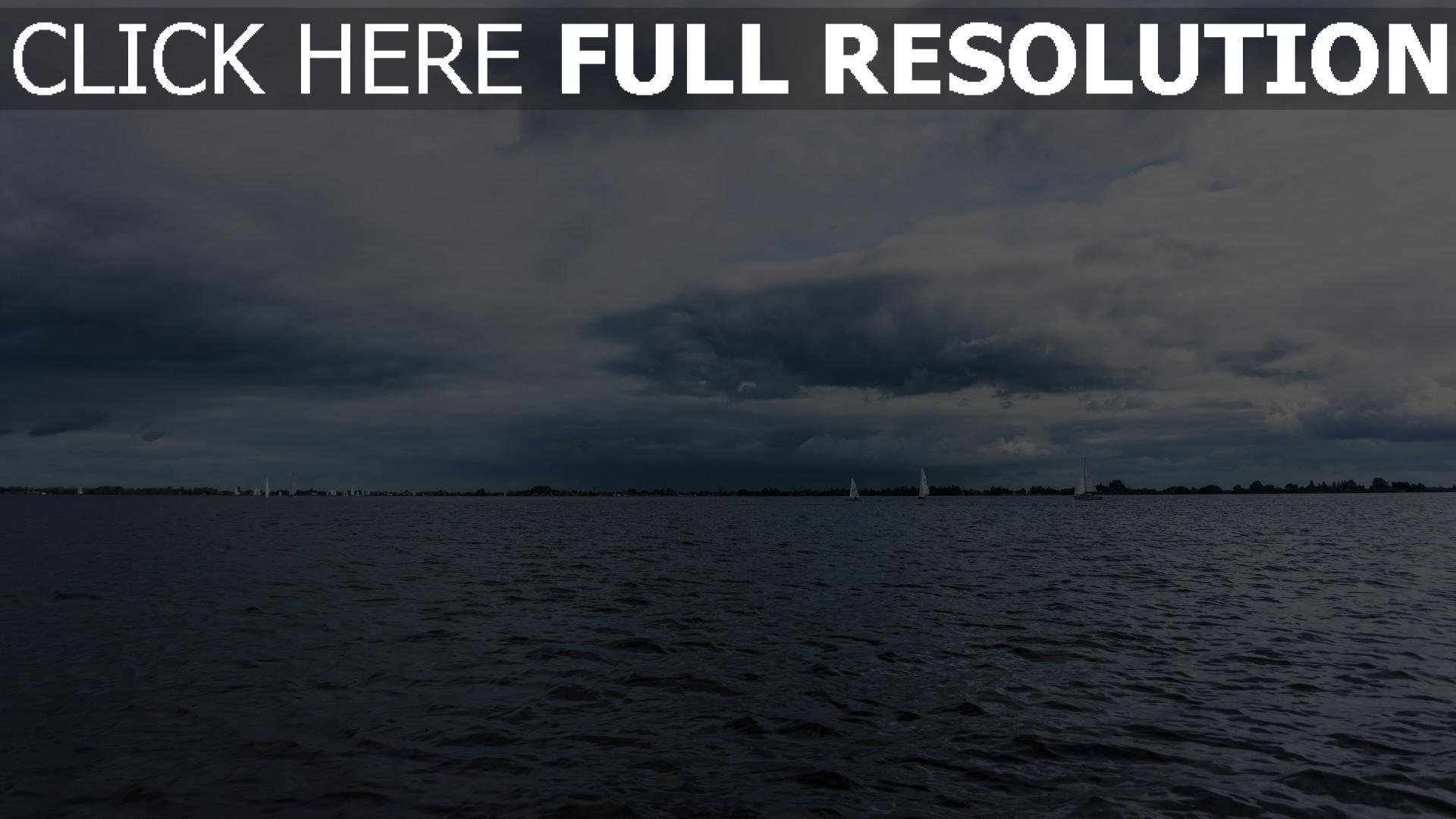 hd hintergrundbilder himmel horizont meer 1920x1080