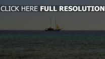 meer horizont schiff