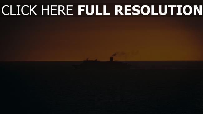 hd hintergrundbilder schiff sonnenuntergang schwimmen horizont