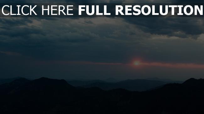 hd hintergrundbilder berge wolken himmel