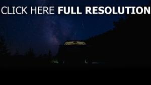 nacht sternenhimmel auto