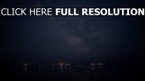 ufer nacht sternenhimmel