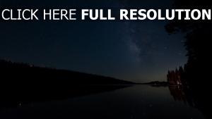 see nacht sterne sternenhimmel