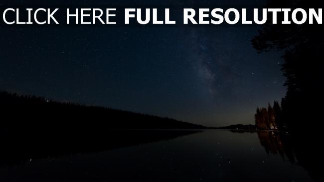hd hintergrundbilder see nacht sterne sternenhimmel