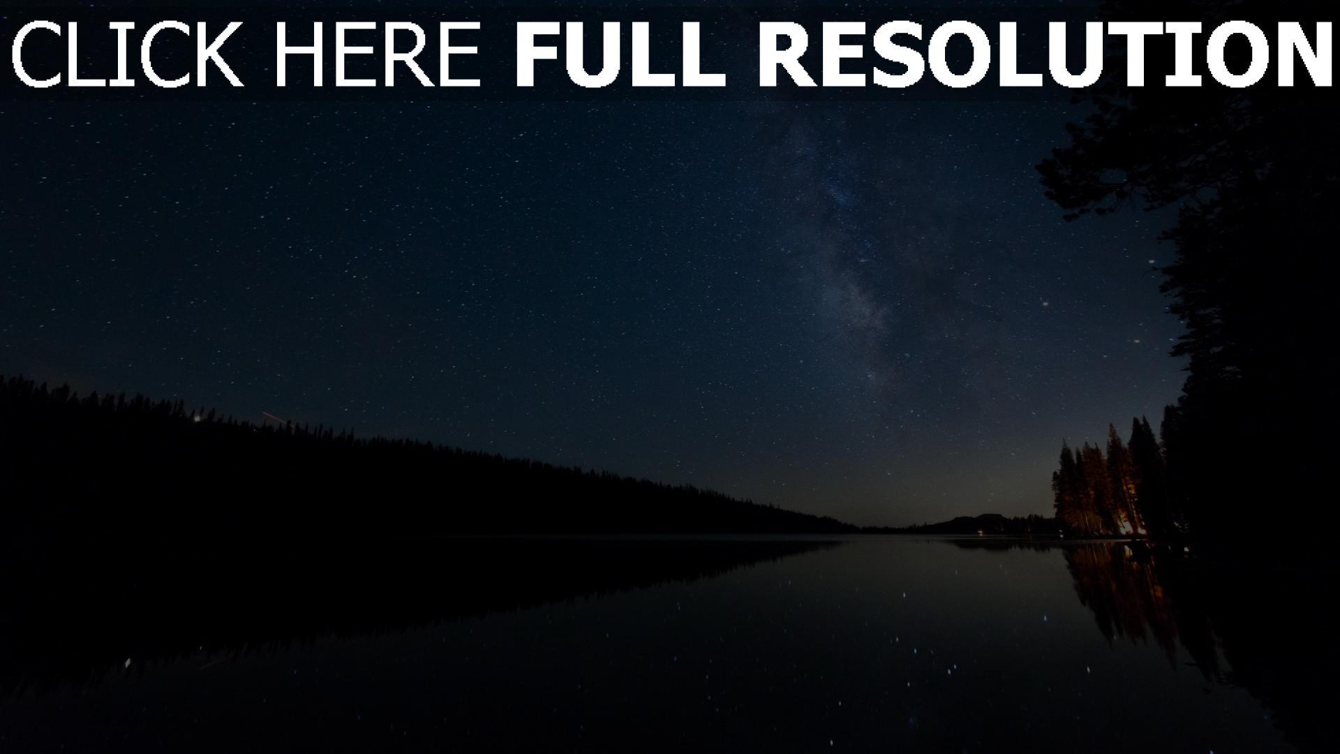 hd hintergrundbilder see nacht sterne sternenhimmel 1920x1080