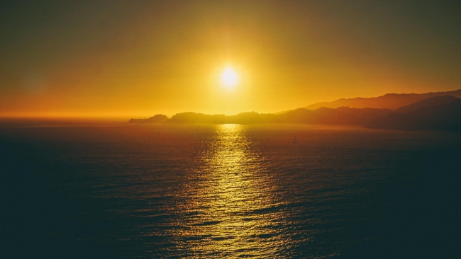 hd hintergrundbilder himmel meer sonnenuntergang