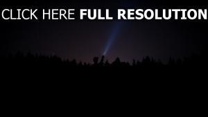 mann nacht licht sternenhimmel sterne