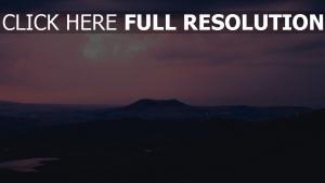 abend weit sonnenuntergang berge