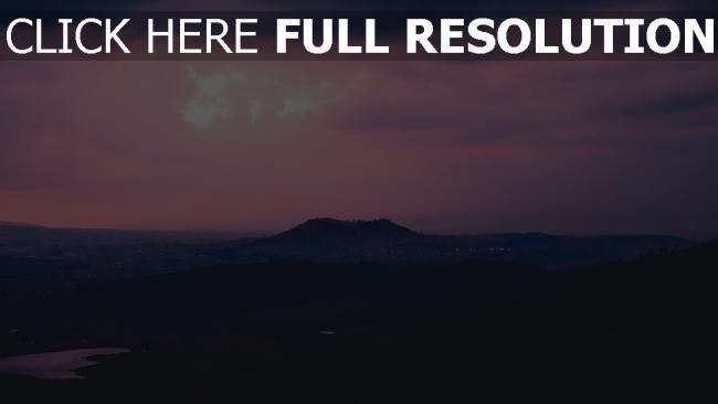 hd hintergrundbilder abend weit sonnenuntergang berge