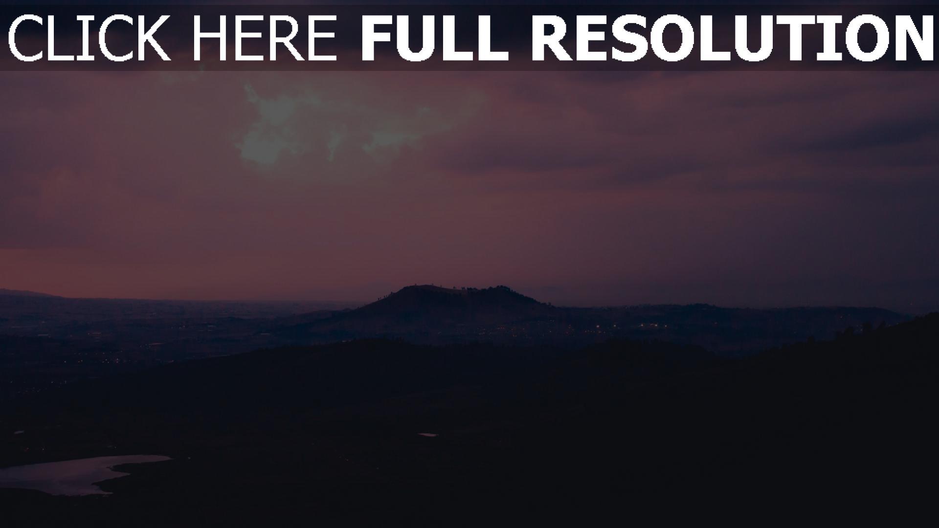 hd hintergrundbilder abend weit sonnenuntergang berge 1920x1080