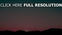 hügel himmel sonnenuntergang