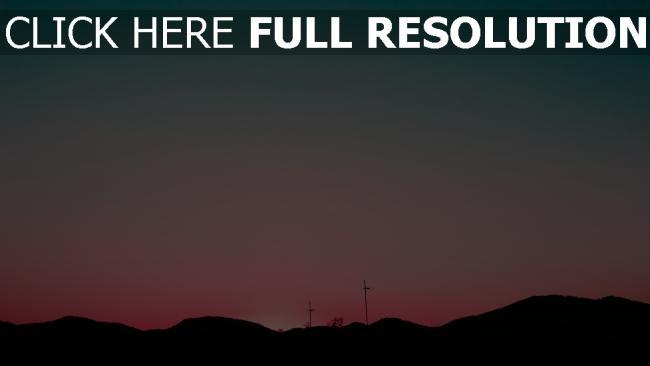 hd hintergrundbilder hügel himmel sonnenuntergang