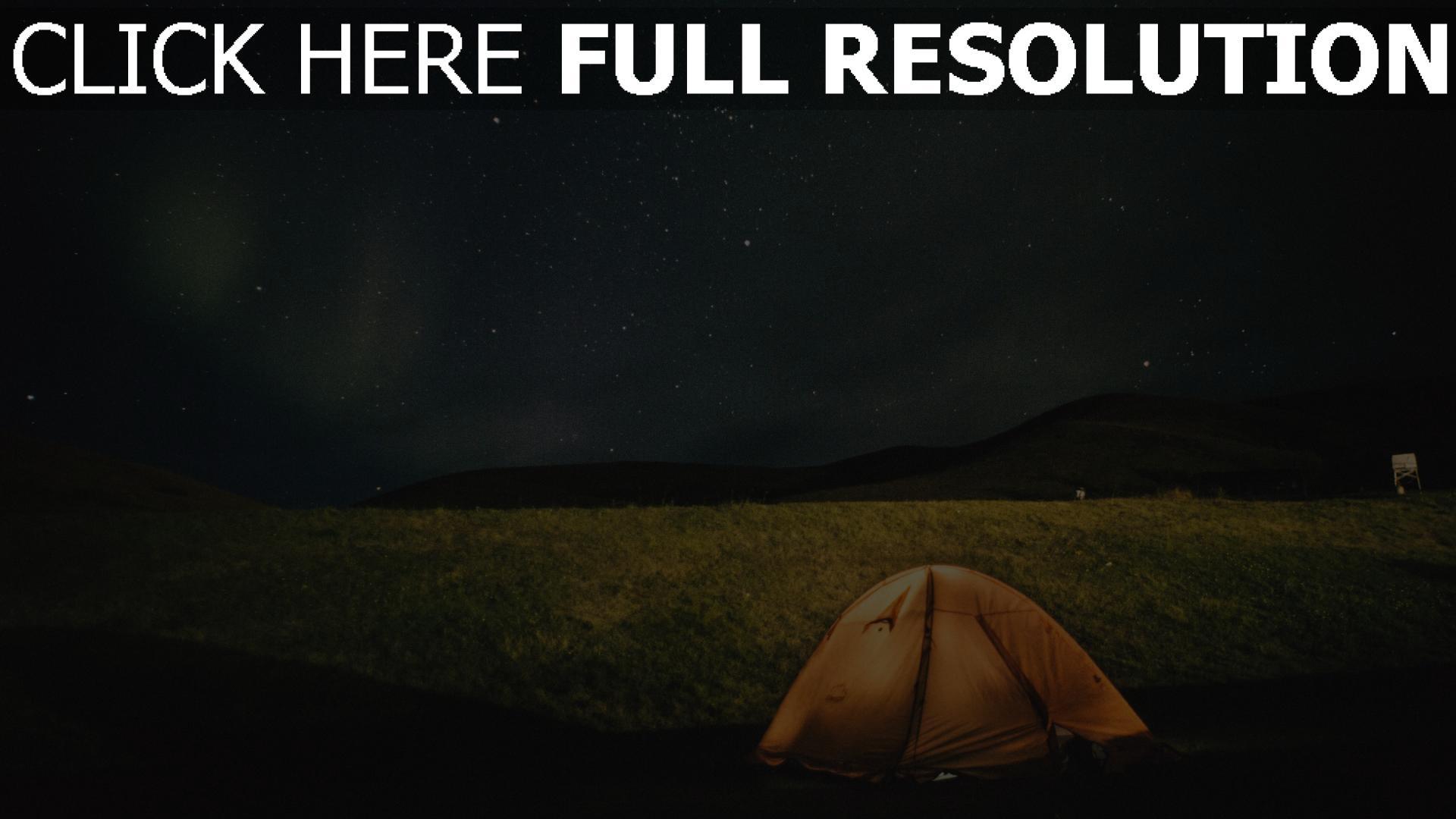 hd hintergrundbilder nacht sternenhimmel zelt 1920x1080