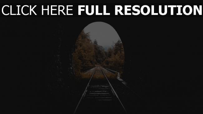 hd hintergrundbilder herbst tunnel eisenbahn