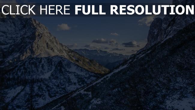 hd hintergrundbilder schnee alpen berge