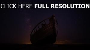 sternenhimmel nacht boot