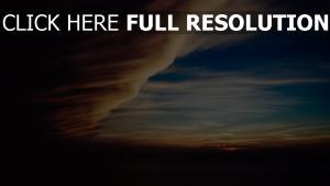 nacht himmel bewölkt wolken