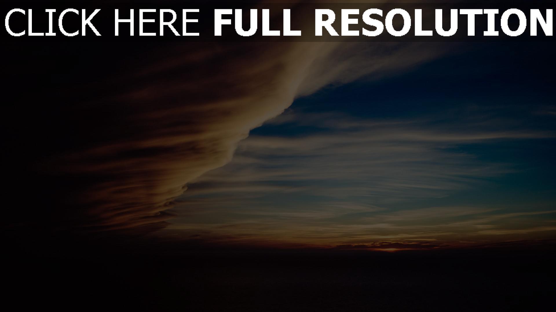 hd hintergrundbilder nacht himmel bewölkt wolken 1920x1080