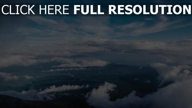 hd hintergrundbilder draufsicht wolken himmel