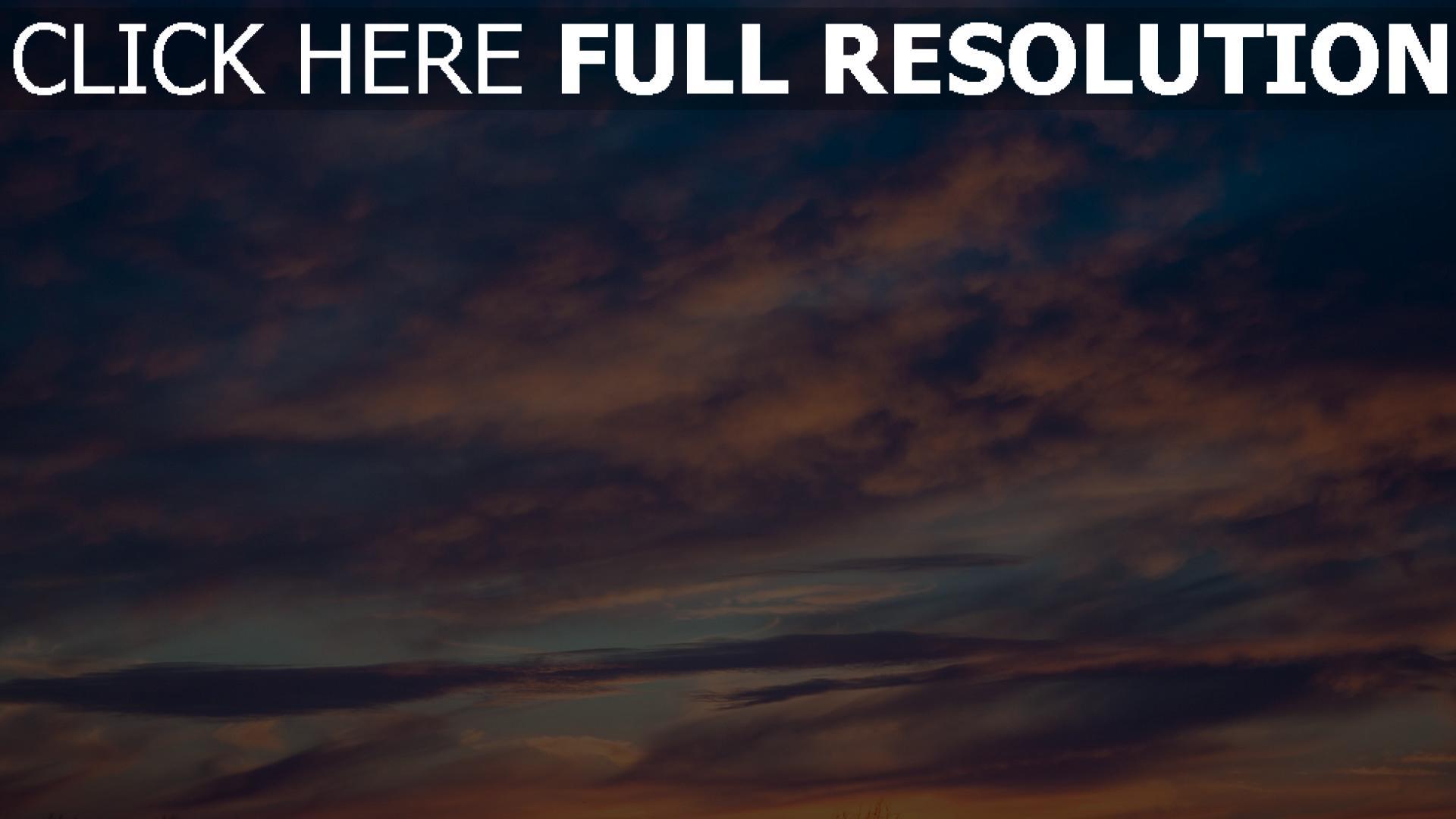 hd hintergrundbilder porös wolken sonnenuntergang 1920x1080