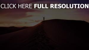 himmel abend sand wüste mann
