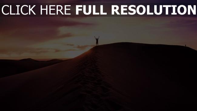 hd hintergrundbilder himmel abend sand wüste mann