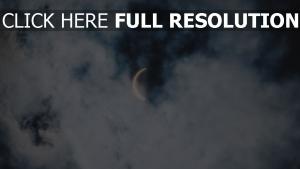 wolken mond sonne sonnenfinsternis