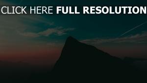 himmel berg abend