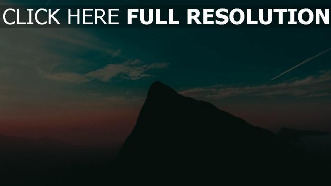 hd hintergrundbilder himmel berg abend