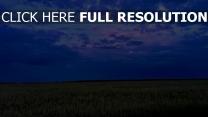 wolken himmel feld abend