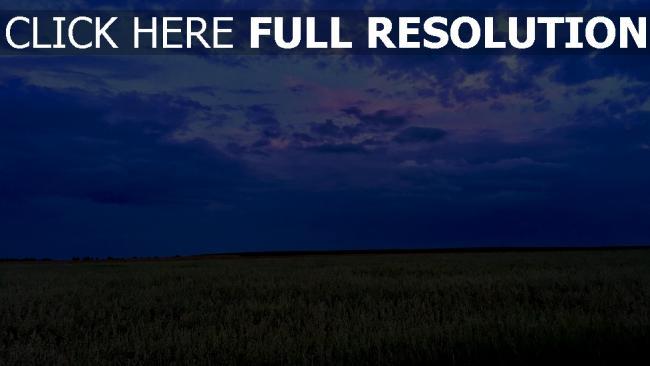 hd hintergrundbilder wolken himmel feld abend