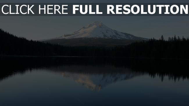 hd hintergrundbilder reflexion berge himmel see