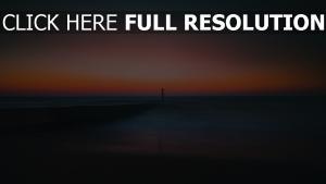 leuchtturm horizont pier meer