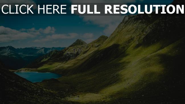 hd hintergrundbilder sommer berge gras
